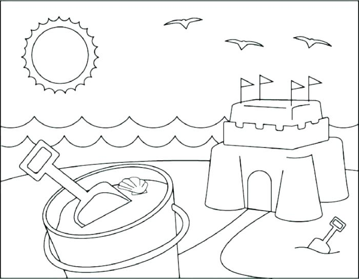 700x543 Coloring Page Beach Beach Scene Coloring Pages Coloring Page Beach