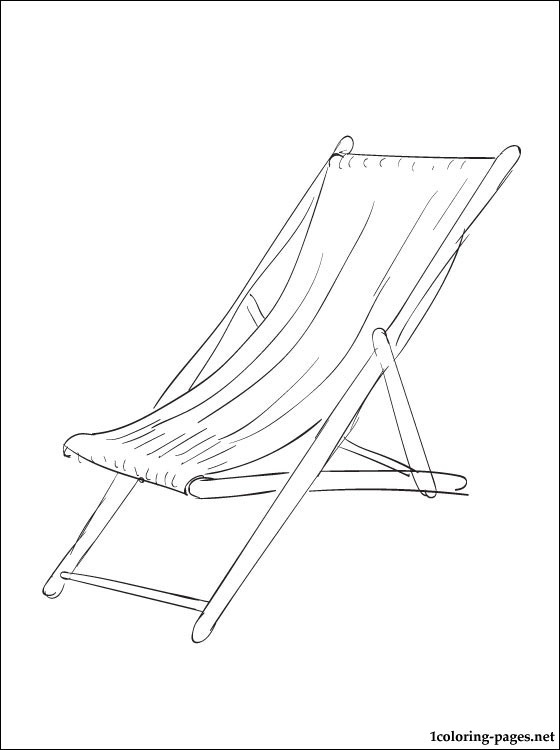 560x750 Coloring Pages Beach Chair Beach Chair Coloring Page Coloring