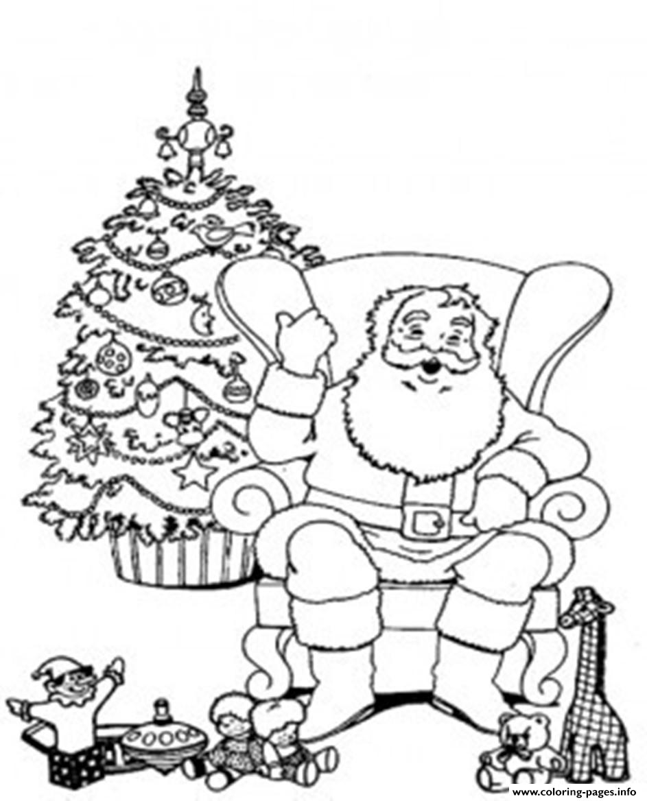 943x1168 Santa Relaxing In A Chair Christmas S For Coloring Pages