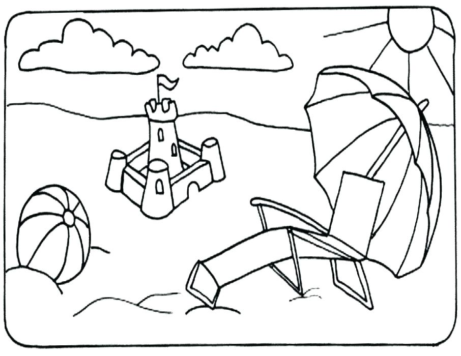 906x700 Summer Coloring Pages Pdf Beach Coloring Pages Chair Page