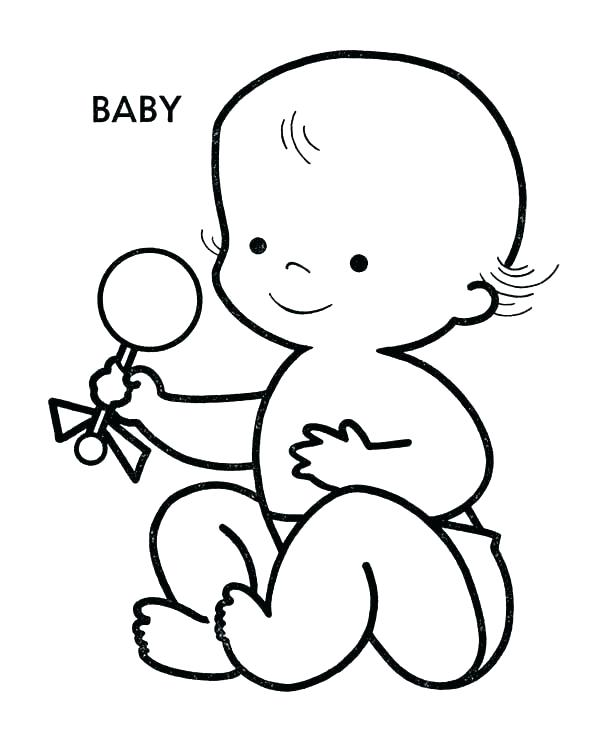 600x734 Chair Baby Coloring Pages Free Printable For Kids Page Baby