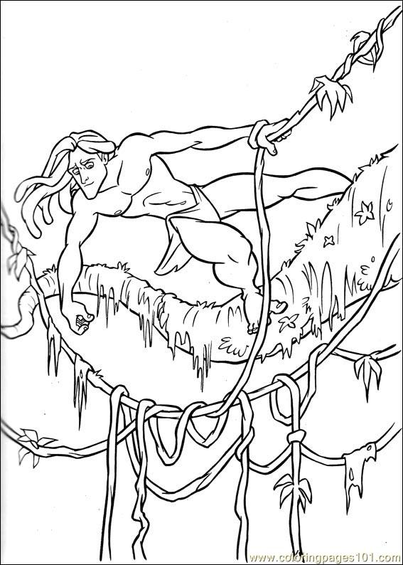 567x794 Kids N Fun Com Coloring Pages Of Tarzan With Ideas