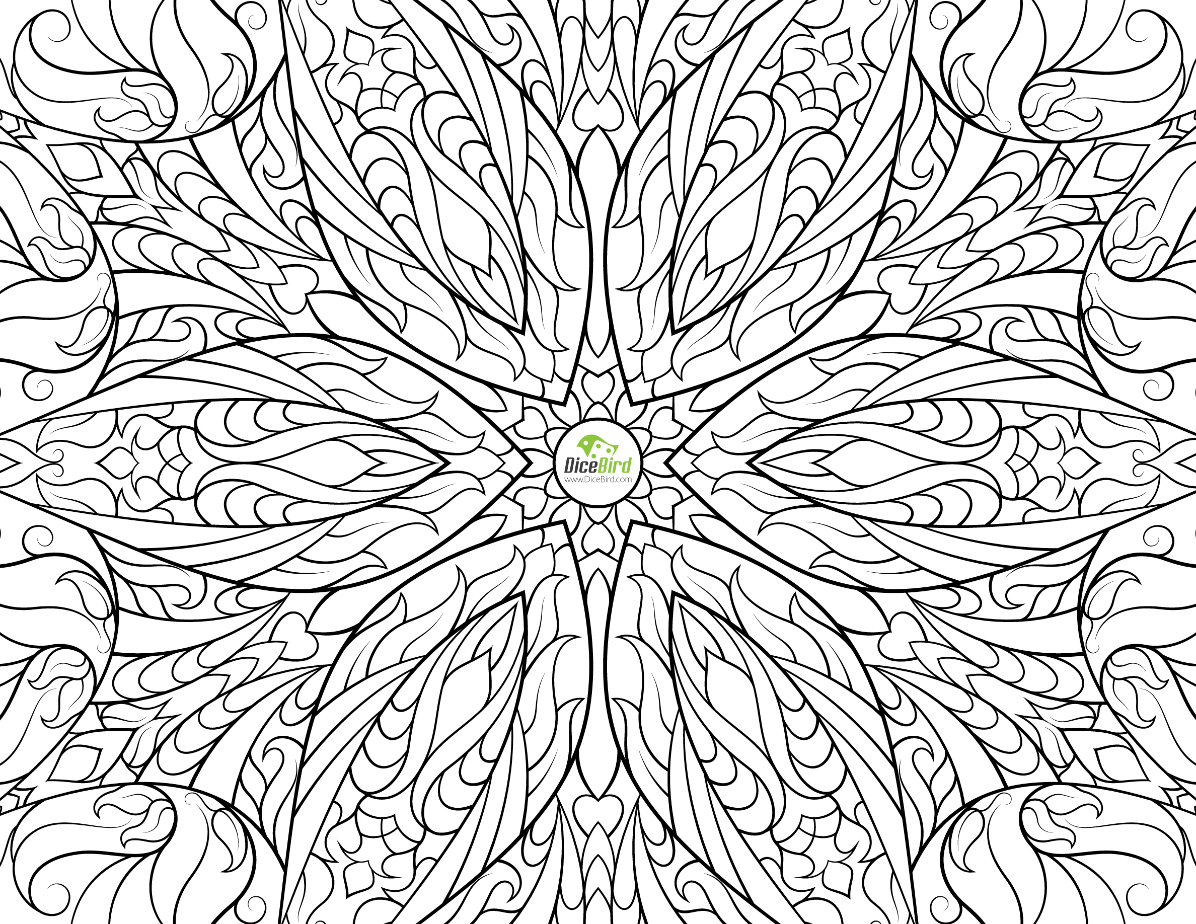 2376x1836 Difficult Coloring Pages For Adults Free Challenging Under The Sea