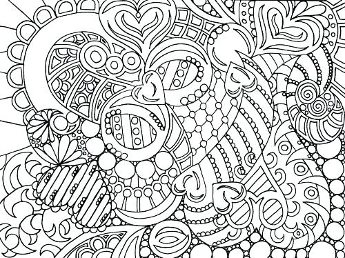 500x374 Challenging Coloring Pages For Adults Challenging Coloring Pages