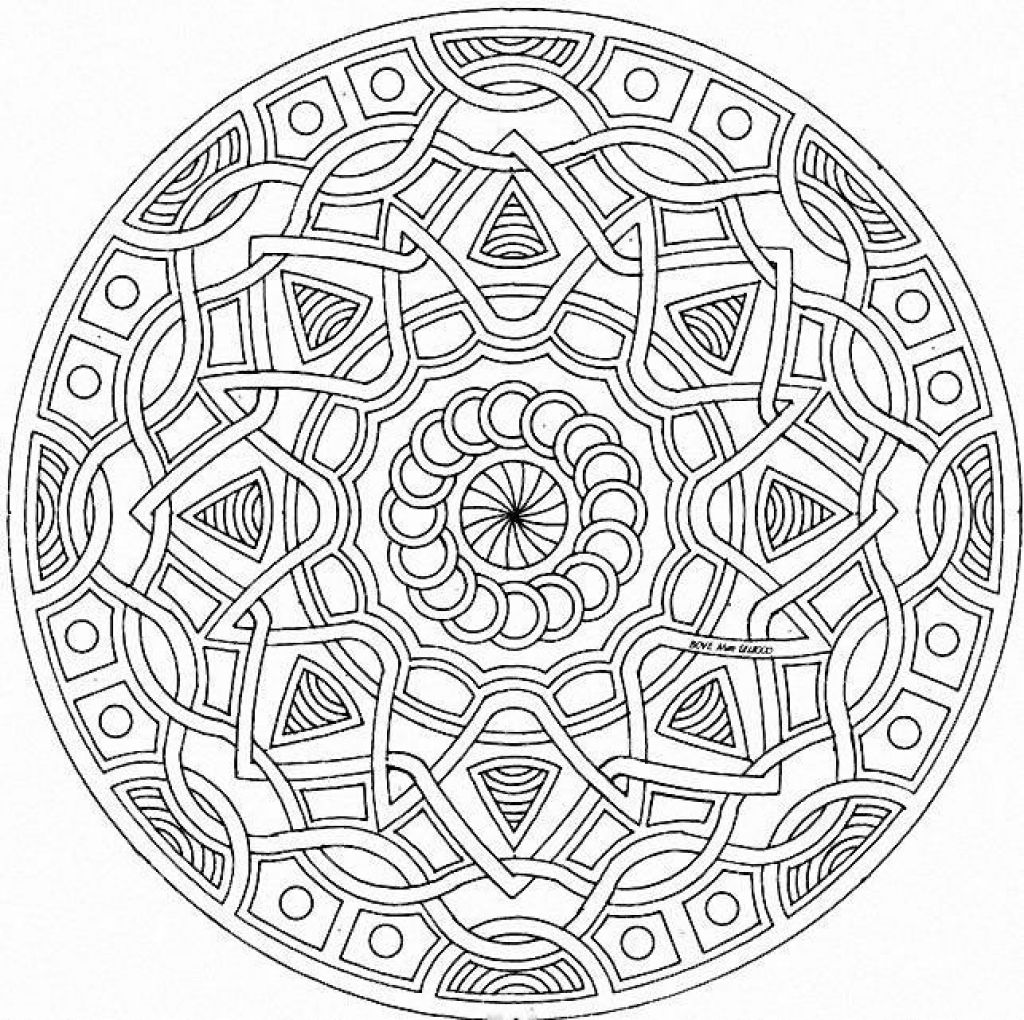1024x1020 Free Printable Abstract Geometric Coloring Page Abstract
