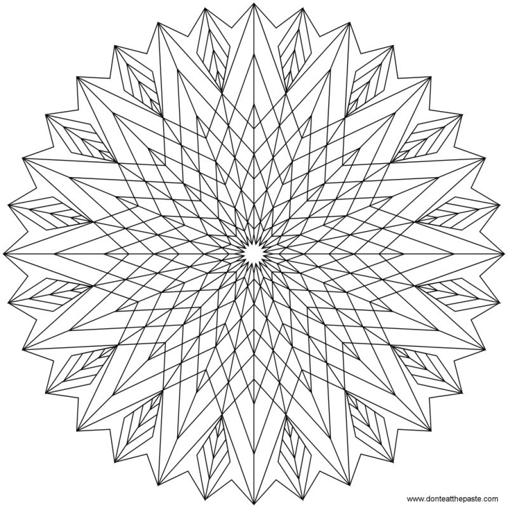 1024x1024 Challenging Coloring Pages