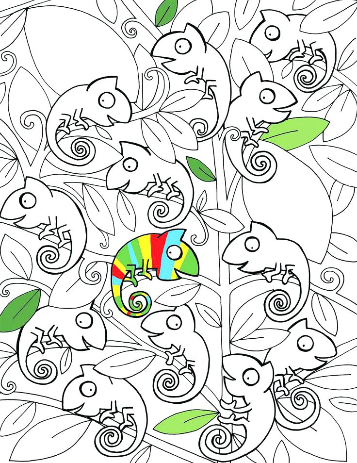 The best free Chameleon coloring page images. Download from ...