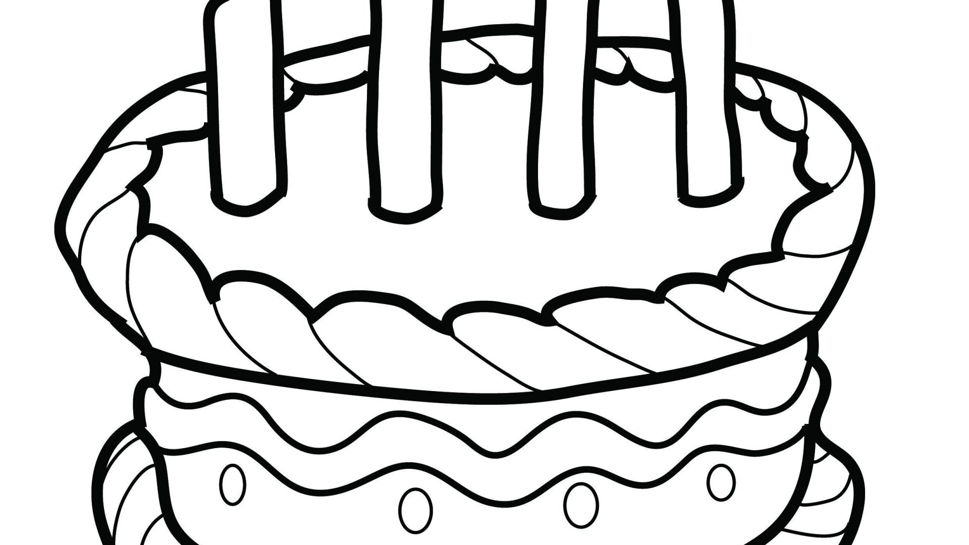 1920x1080 Cupcake Candle Coloring Page With Great Pages Printable To Color