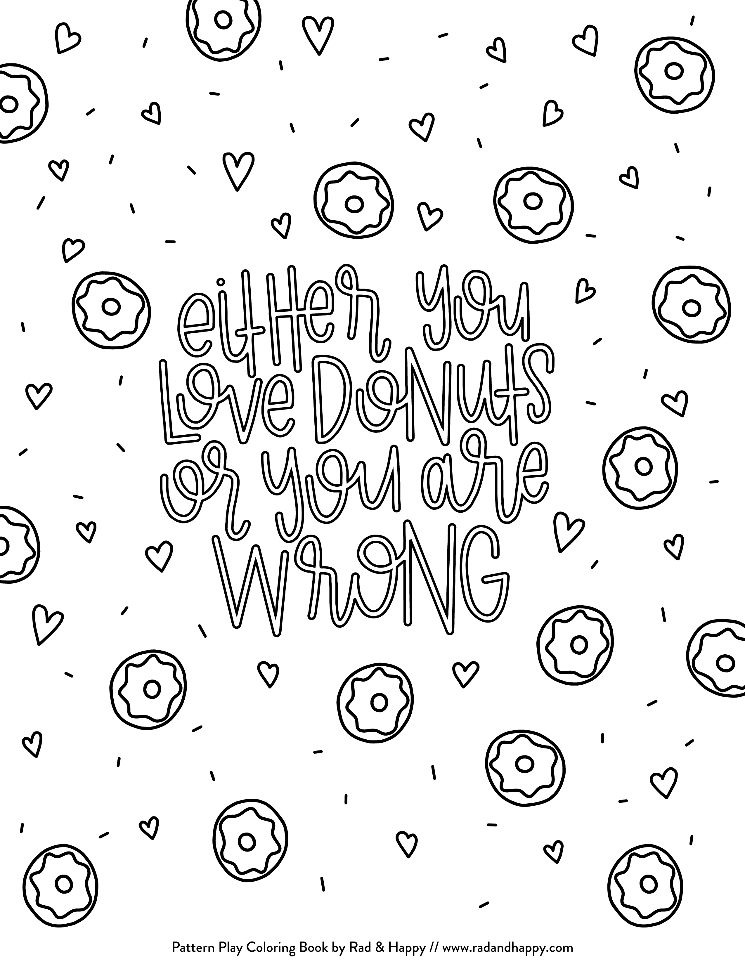 2550x3300 Free Printable Sweet Treats Coloring Pages