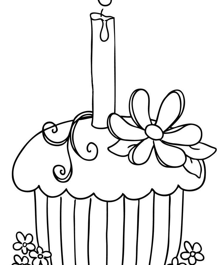 736x900 Kids Coloring Pages Of Cupcakes Printable Cupcake Printables