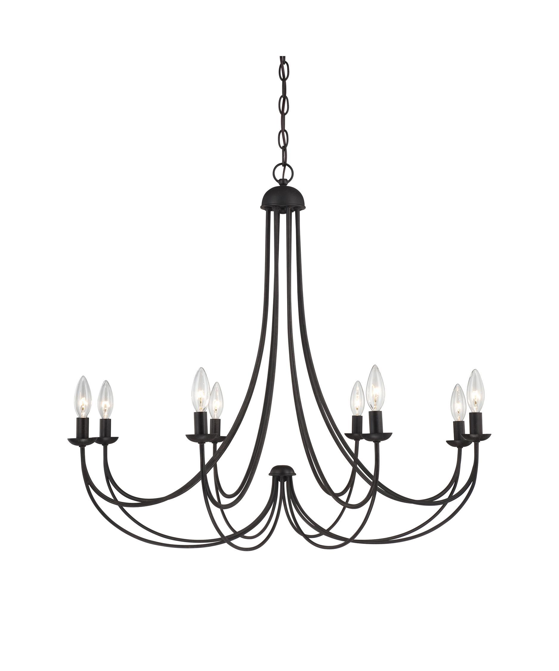 1875x2250 Marvelous Elstead Amarilli Light Chandelier In Black Silver Within