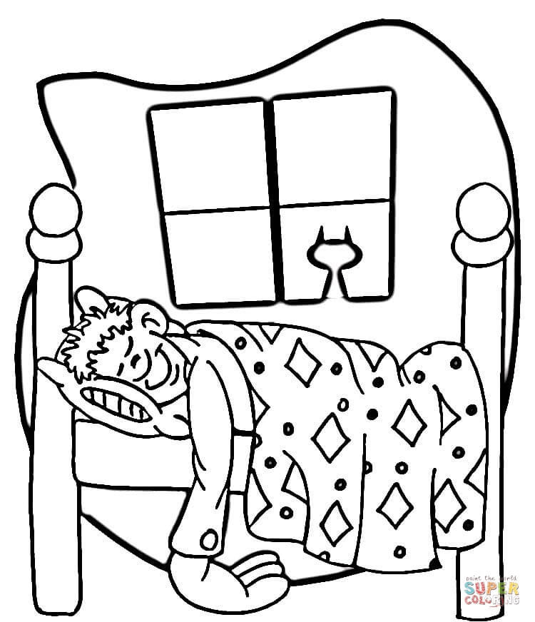 750x872 Night Time Furniture Coloring Page
