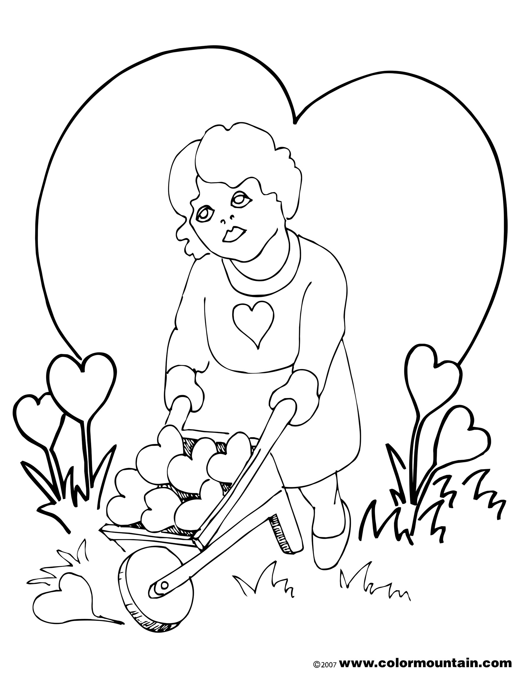 1800x2294 Valentine Coloring Sheet