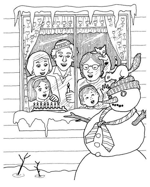 490x610 Chanukah Coloring Pages Jewish Holidays