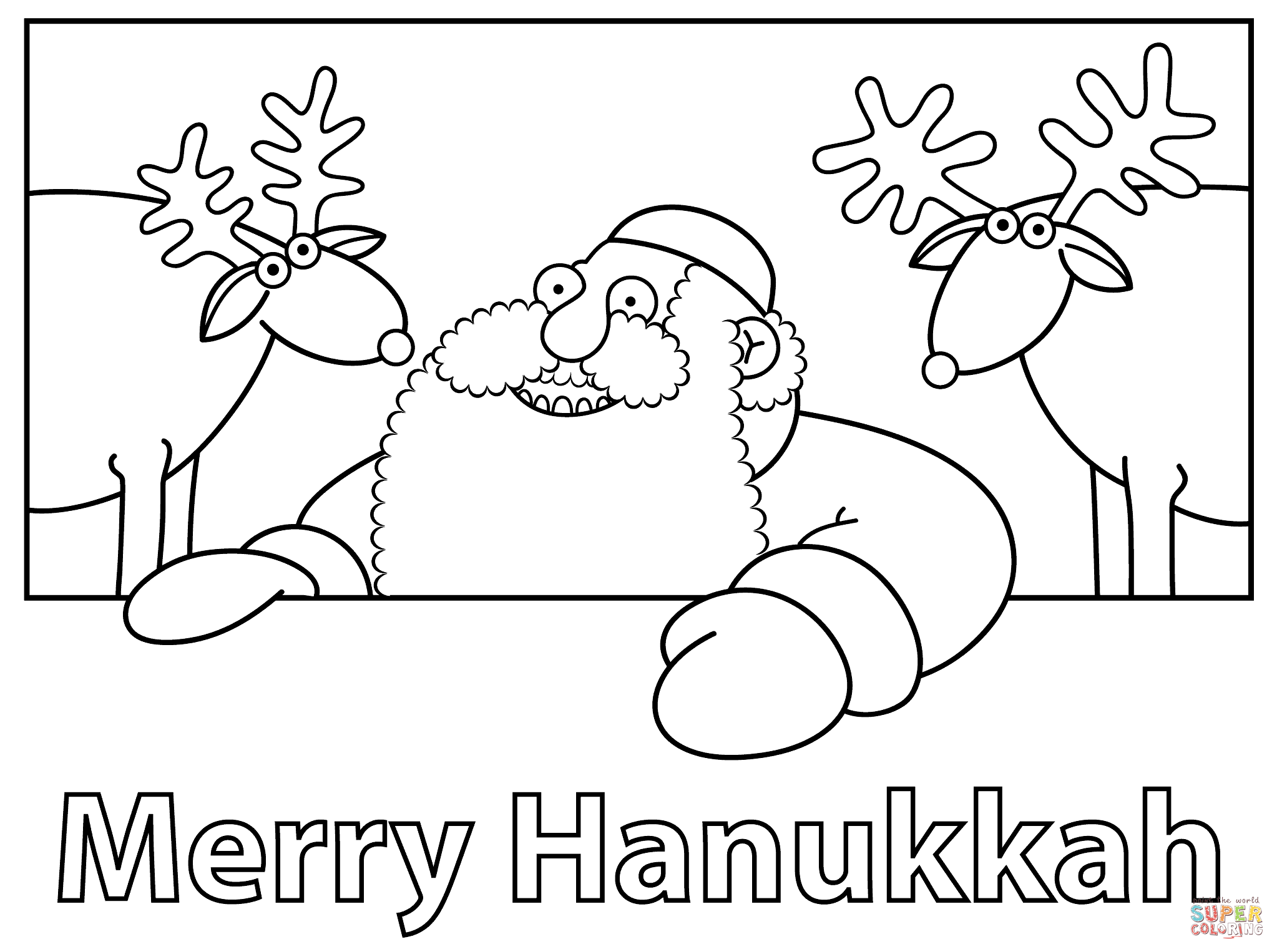 2046x1526 Impressive Hanukkah Pictures To Color Reliable Merry Coloring Page