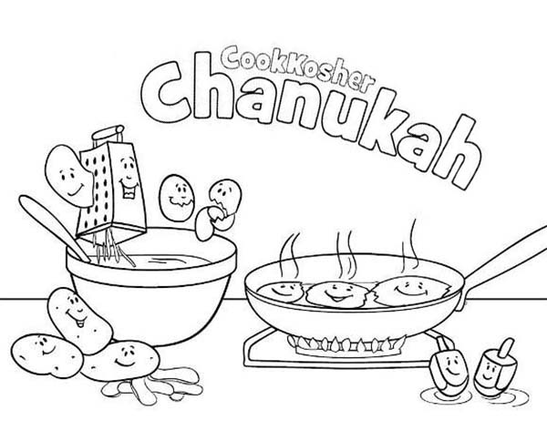600x462 Chanukah Coloring Pages