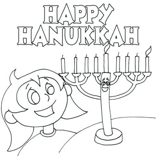 500x500 Coloring Page Chanukah Coloring Pages Page Printable Chanukah