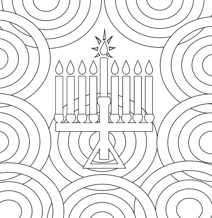 700x719 Chanukah Coloring Pages Menorah Coloring Page Hanukkah Coloring