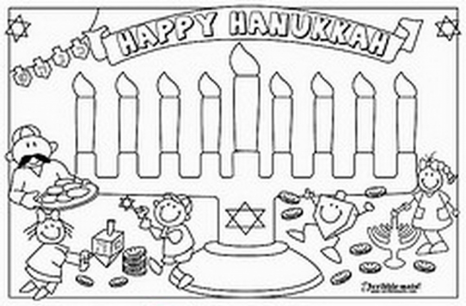 960x631 Chanukah Story Coloring Pages Color Bros