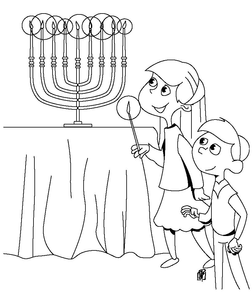 820x960 Download Free Hanukkah Color Pages Printable For Pre School