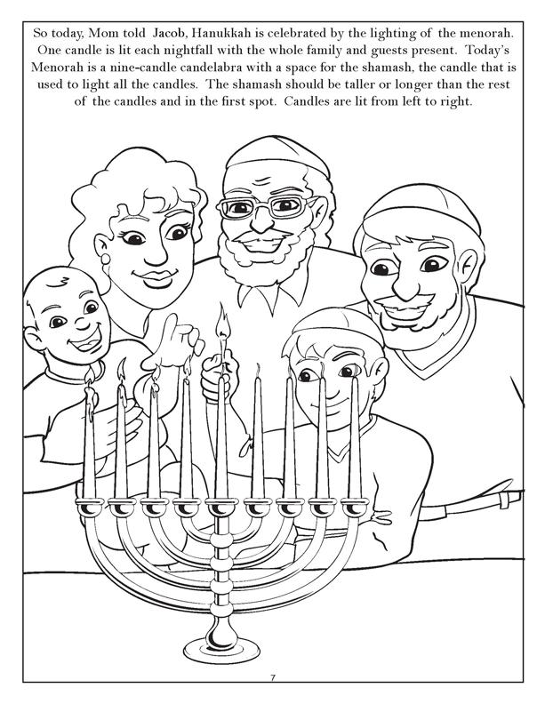 613x792 Chanukah Story Coloring Pages Puzzlegif Ideas