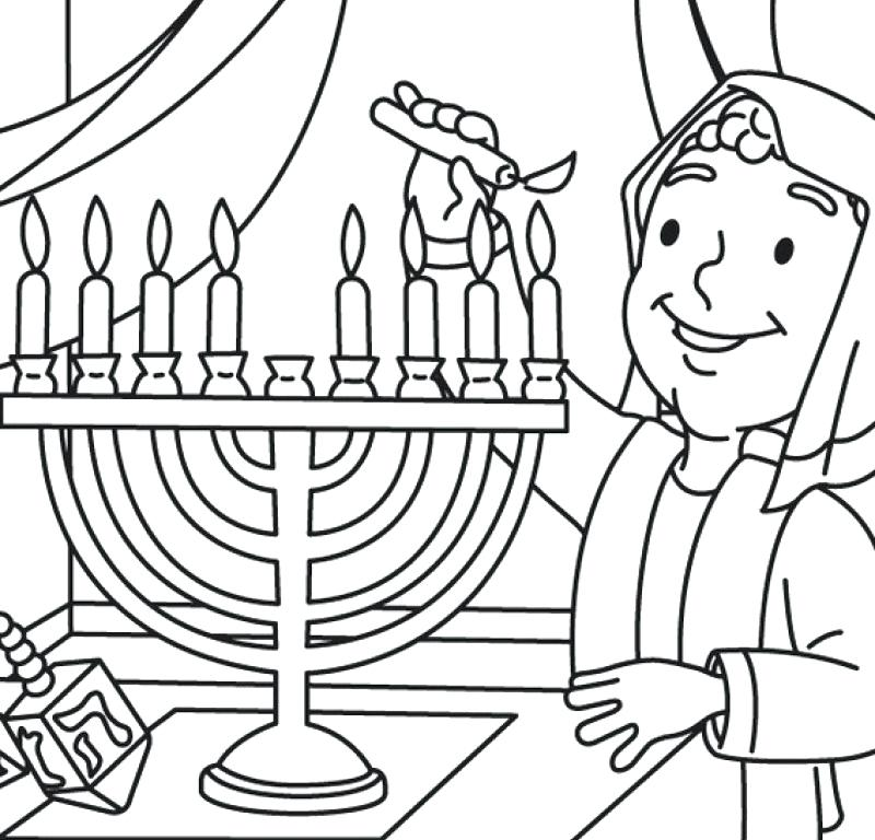 800x768 Chanukah Coloring Pages And With Small Cute Boy Coloring Page Kids