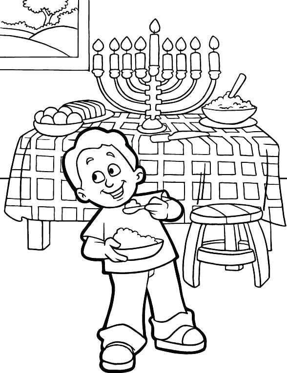 588x765 Chanukah Story Coloring Pages