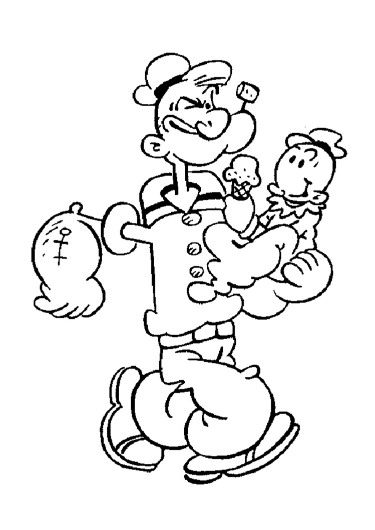 749x1060 Popeye The Sailor Coloring Pages