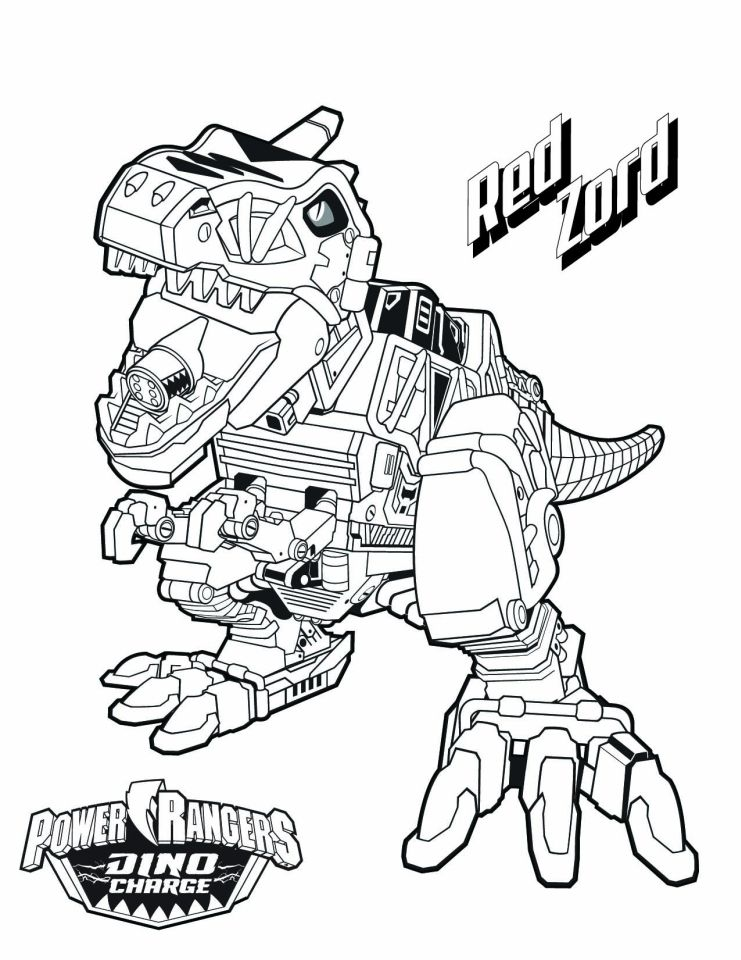 741x960 Power Ranger Dino Force Coloring Pages For Kids Dino