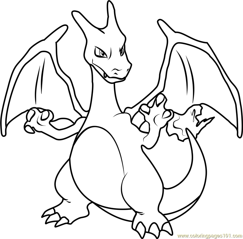 800x787 Charizard Pokemon Coloring Page