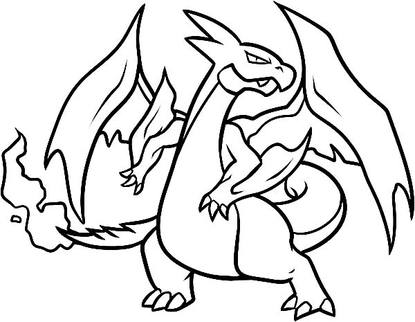 600x465 How To Draw A Charizard Coloring Page