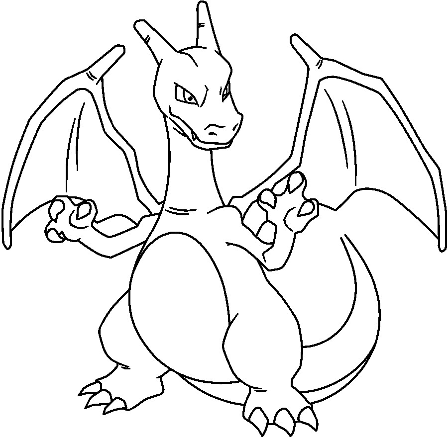 900x881 Charizard Coloring Page