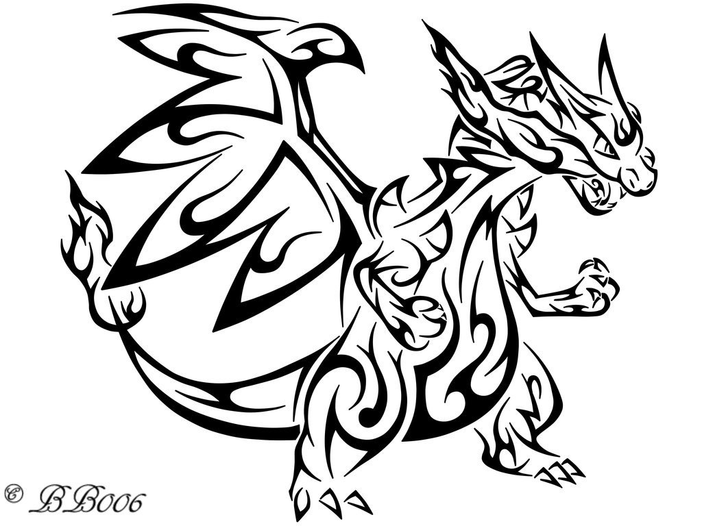 1024x768 Charizard Coloring Pages