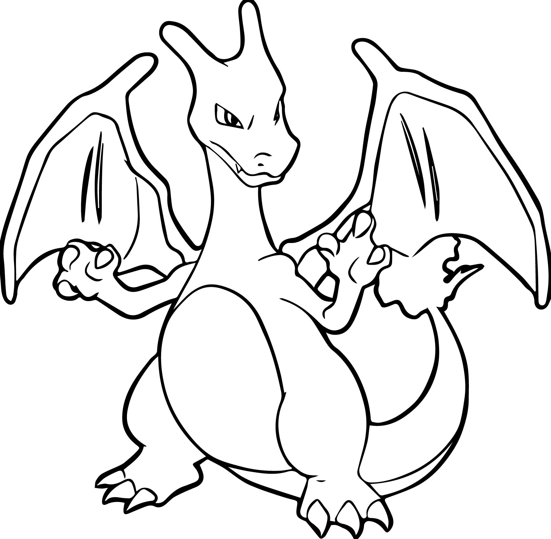 1758x1719 Delighted Charizard Coloring Pages Coloringsuite Com