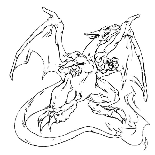 600x600 Fire Charizard Pokemon Coloring Page