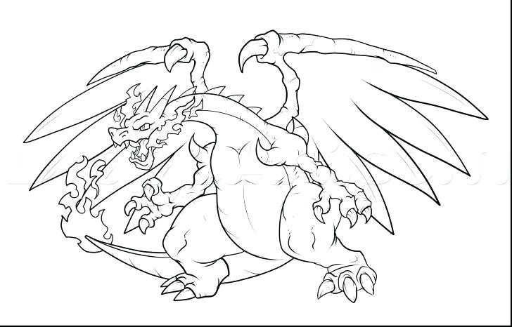 728x466 Charizard Coloring Page Medium Size Of Coloring Pages Beautiful