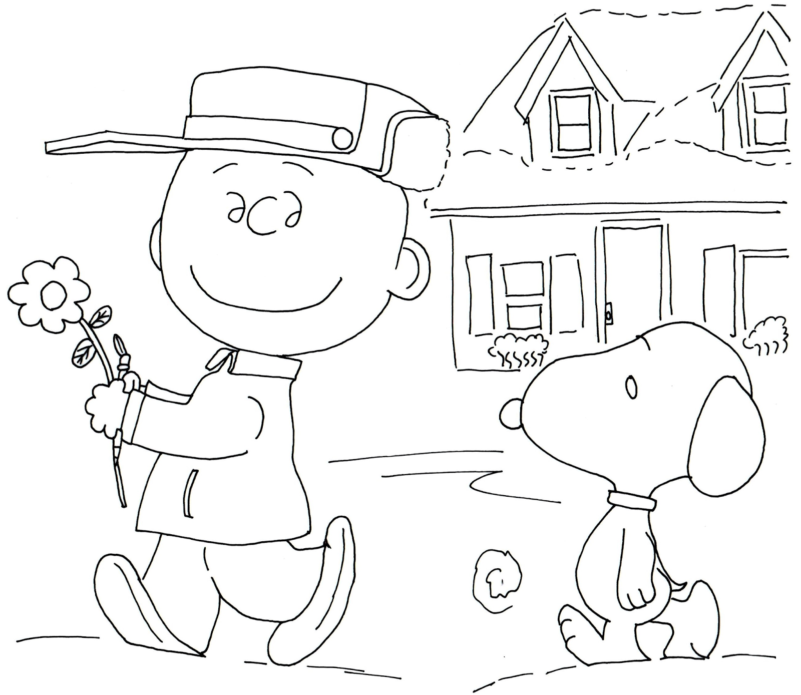 1600x1388 Free Charlie Brown Snoopy And Peanuts Coloring Pages Free Charlie