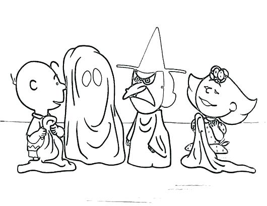 530x409 Snoopy Halloween Coloring Pages Snoopy Coloring Pages Snoopy