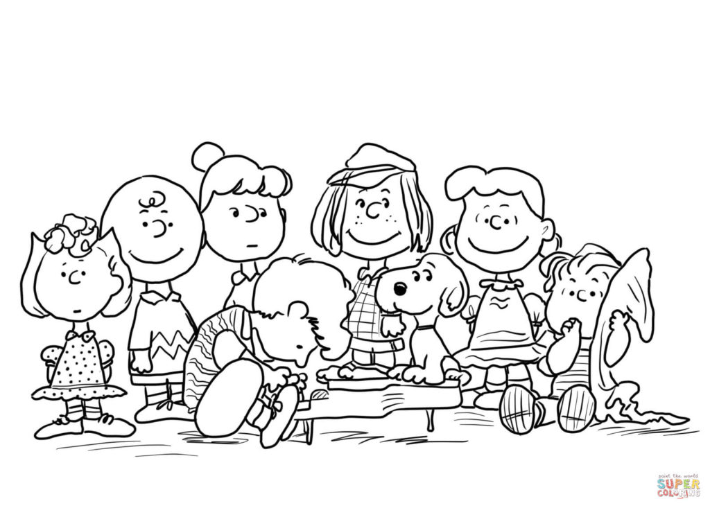1024x733 Charlie Brown Characters Coloring Pages Peanuts Page Free