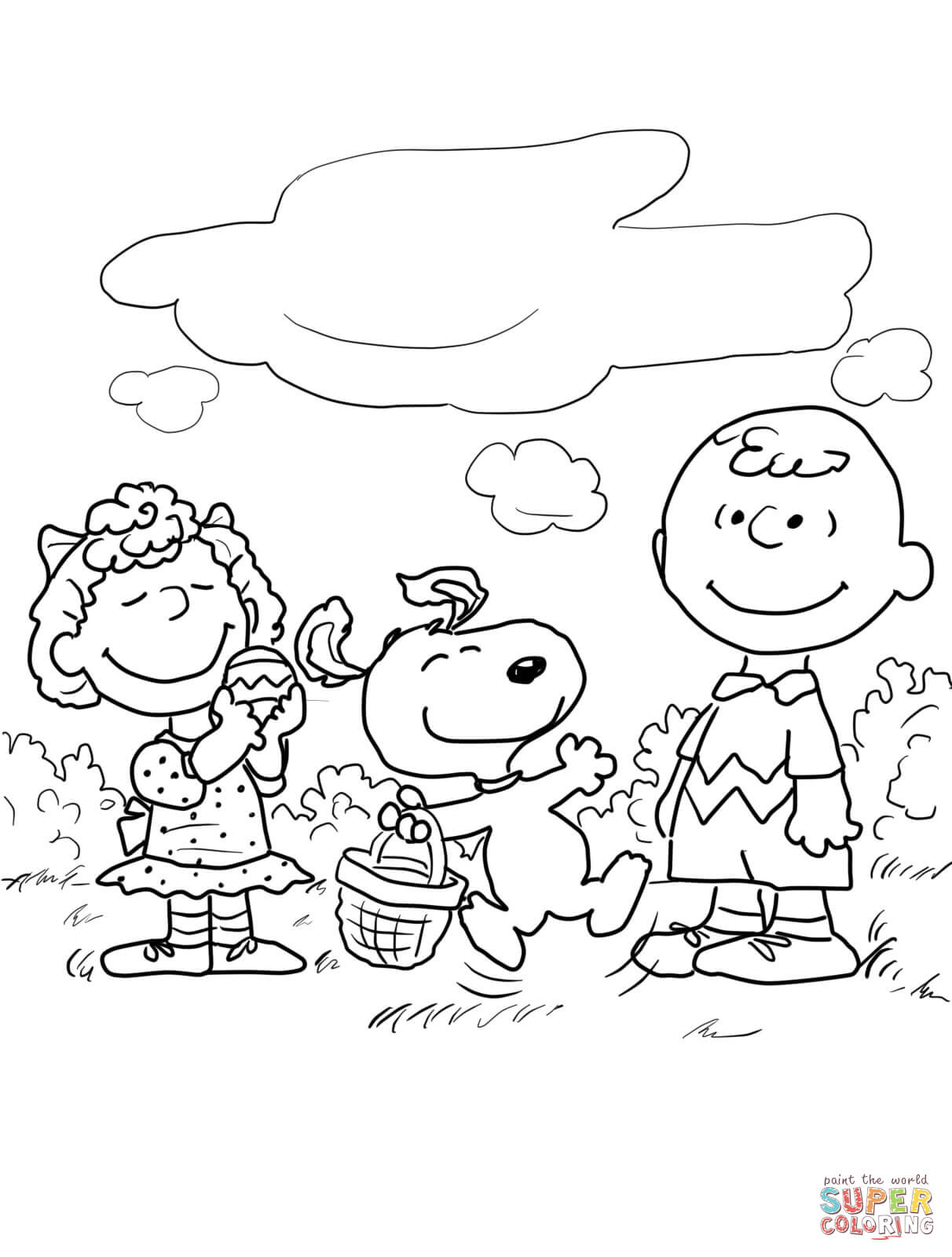 1212x1600 Peanuts Easter Coloring Page Free Printable Pages Bright Charlie