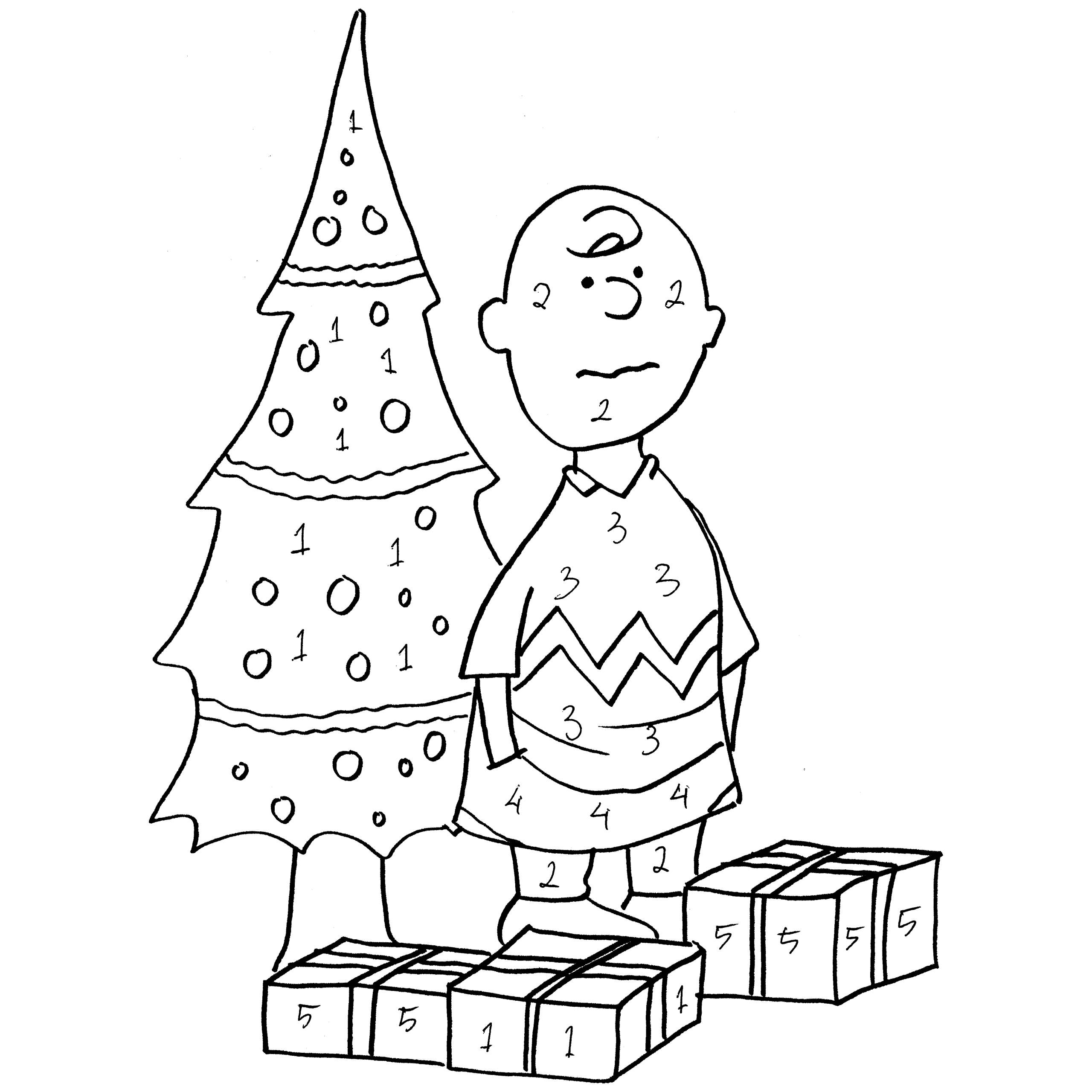 2560x2560 Charlie Brown Christmas Coloring Pages