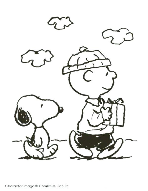 600x776 Charlie Brown Christmas Coloring Pages
