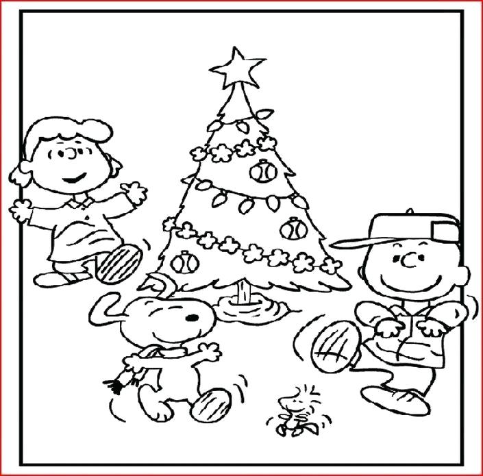 705x695 Charlie Brown Christmas Tree Coloring Pages