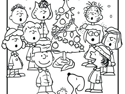 440x330 Charlie Brown Christmas Coloring Charlie Brown Coloring Pages