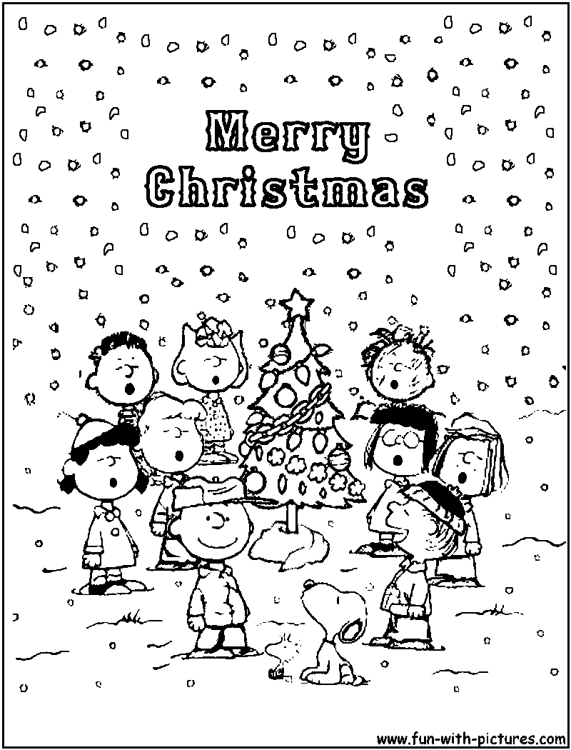 800x1050 Charlie Brown Christmas Coloring Pages