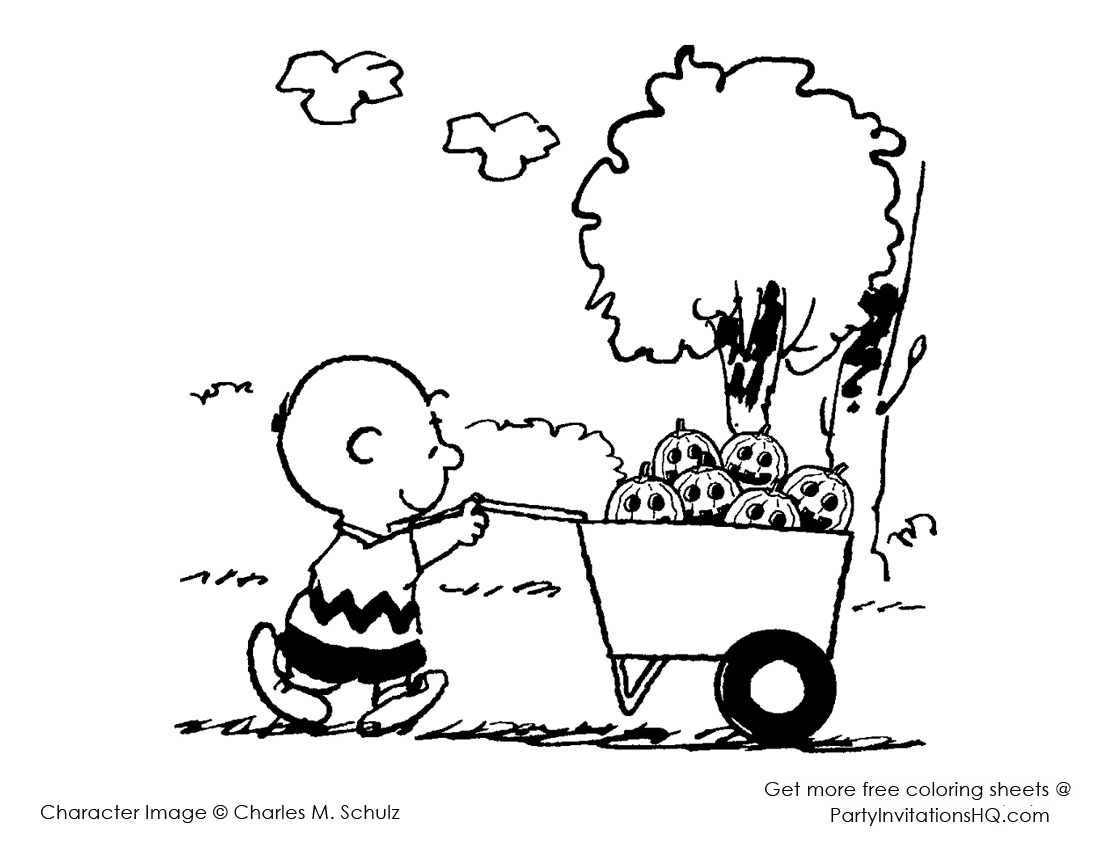 1100x850 Charlie Brown Thanksgiving Coloring Pages