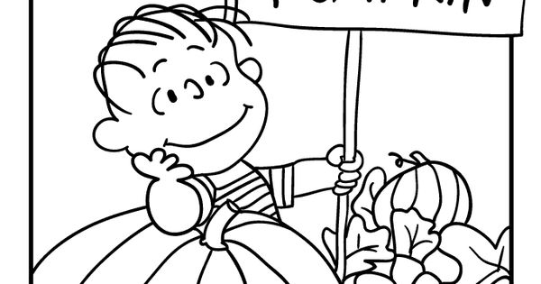 600x315 The Great Pumpkin Coloring Pages