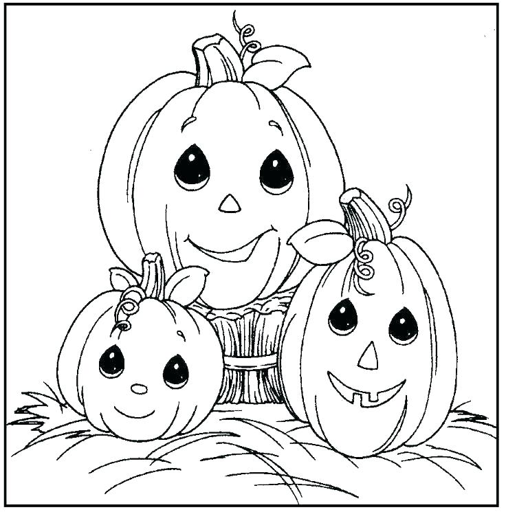 736x745 Pumpkin Coloring Pages Free