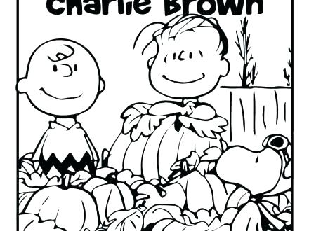 440x330 Charlie Brown Coloring Pages Games Great Pumpkin Gallery