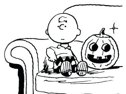 440x330 Charlie Brown Halloween Coloring Pages Quotes From Charlie Brown